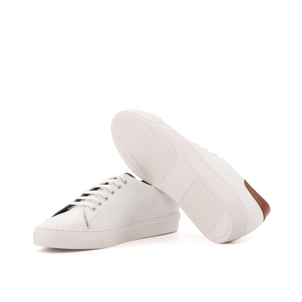 Trainer Sneaker - Box Calf White Painted Brown
