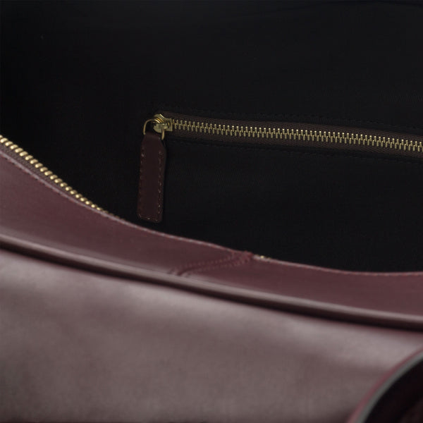 Travel Duffle - Painted Calf Burgundy and Black