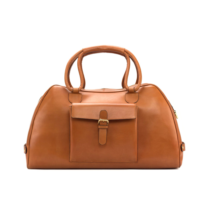 Travel Duffle Bag - Painted Calf Cognac