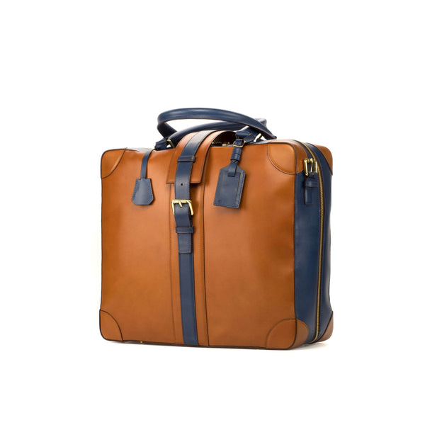 Travel Tote - Painted Calf Cognac - Painted Calf Navy