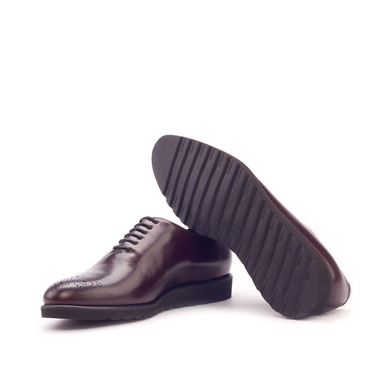 Whole Cut - Painted Calf Burgundy and Polished calf Burgundy-Albert Couture