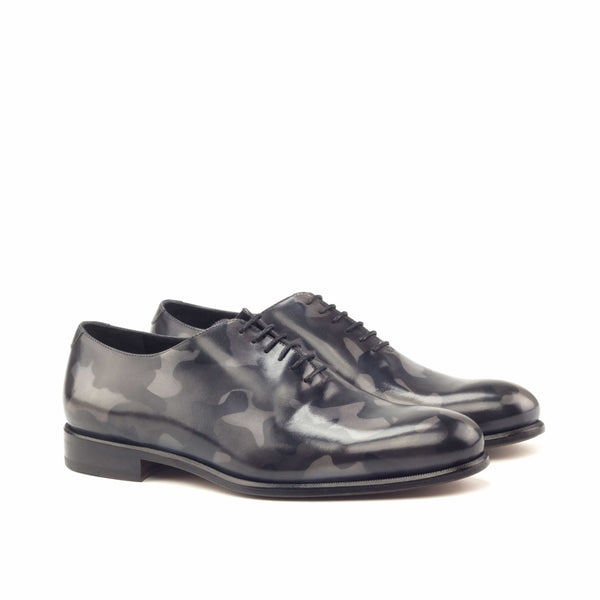Whole Cut - Crust Patina Grey Camo Leather Natural sole-Albert Couture