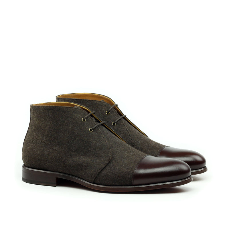 Chukka - Flannel Brown Box Calf Brown-Albert Couture