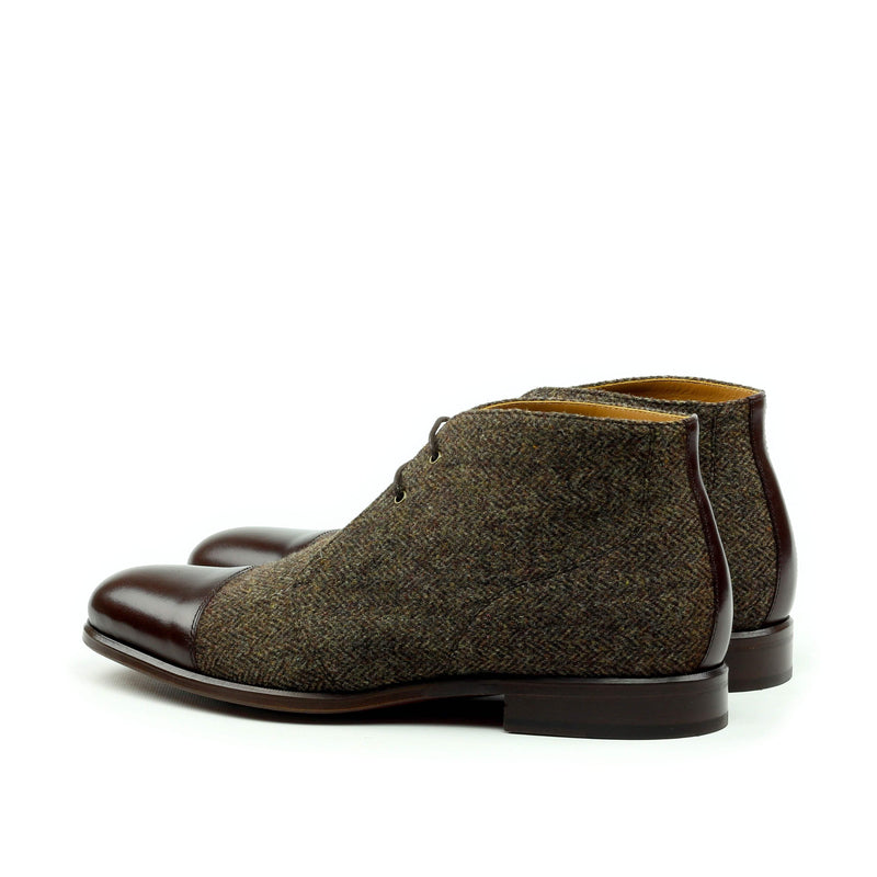 Chukka - Herringbone Brown Box Calf Dark Brown-Albert Couture