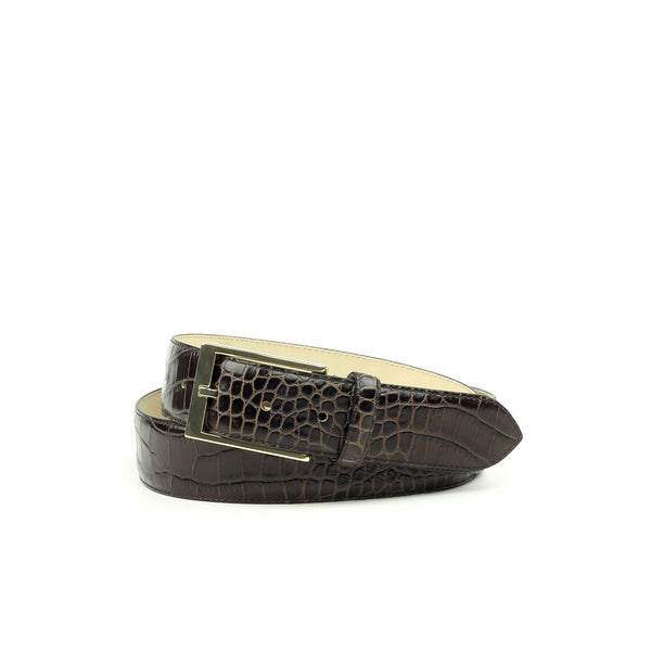 Belt - Croco Black-Albert Couture