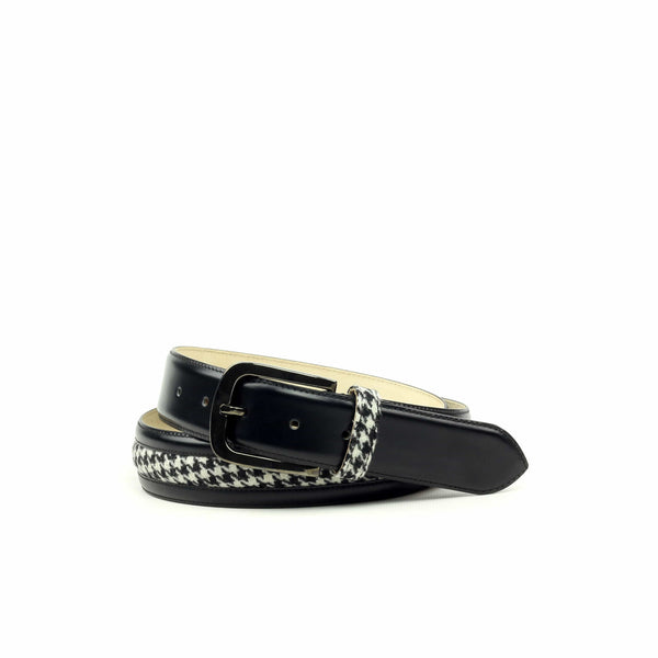 Belt - Florantic Black Houndstooth Black-Albert Couture