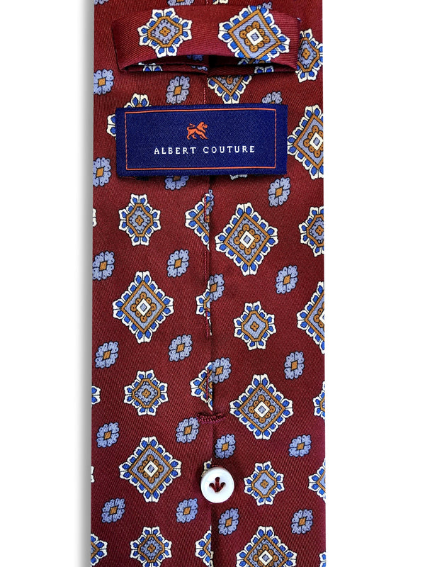 Ties - Red Merlot Blu Diamonds