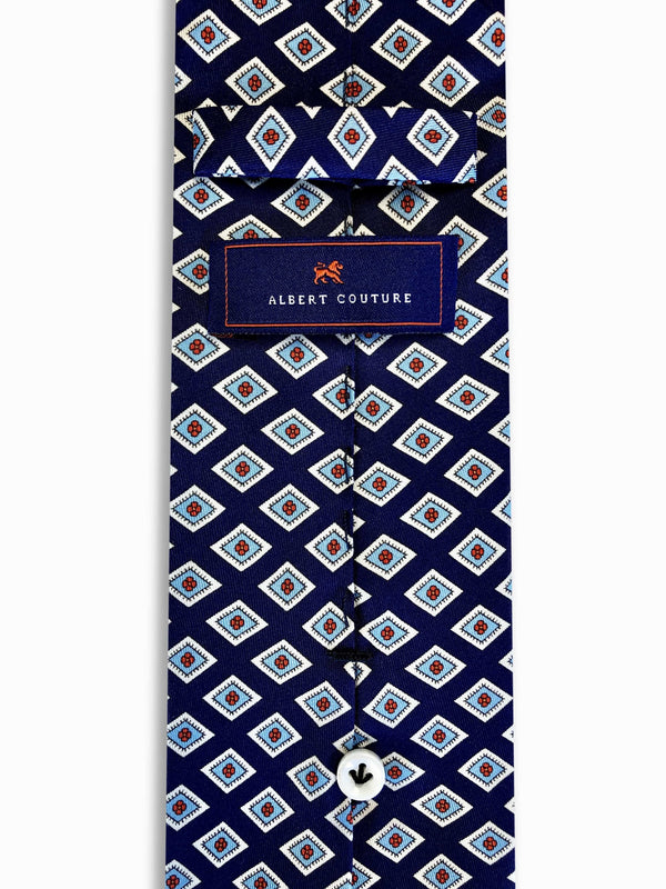 Ties - Blu Pinot Red Diamonds
