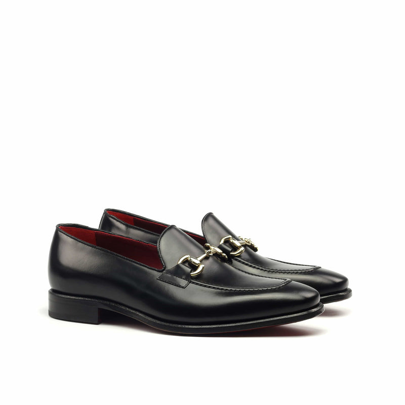Loafer - Polished Black Calf-Albert Couture
