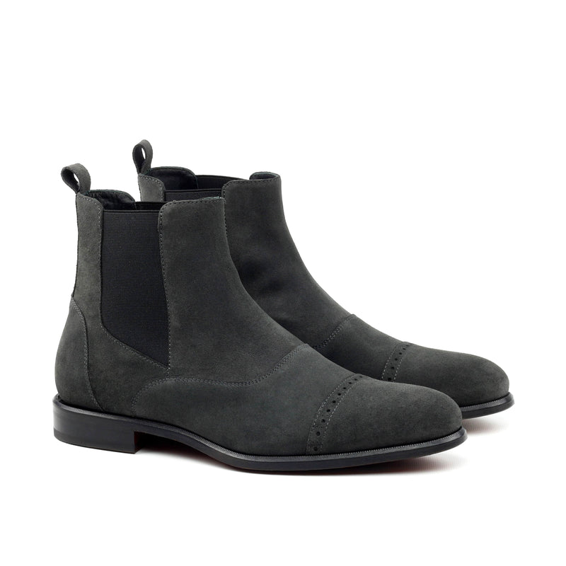 Chelsea Boots - Lux Suede Grey-Albert Couture