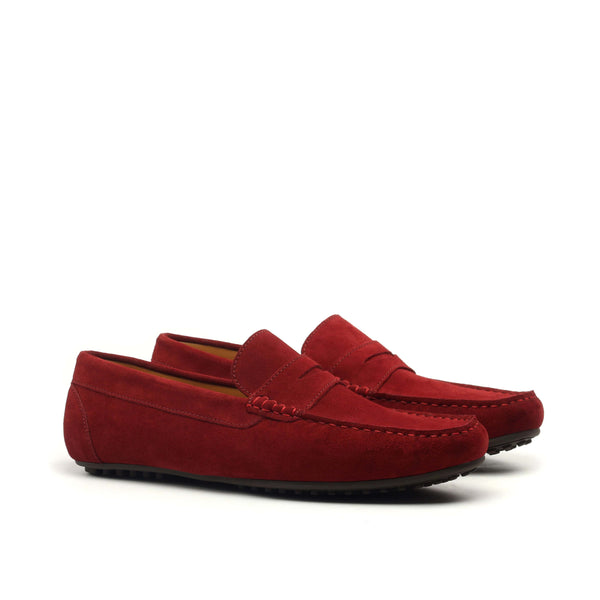 Moccasin - Burgundy Sport Suede-Albert Couture