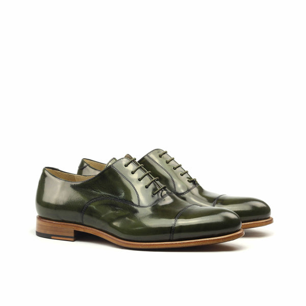 Oxford - Polished Green Calf-Albert Couture