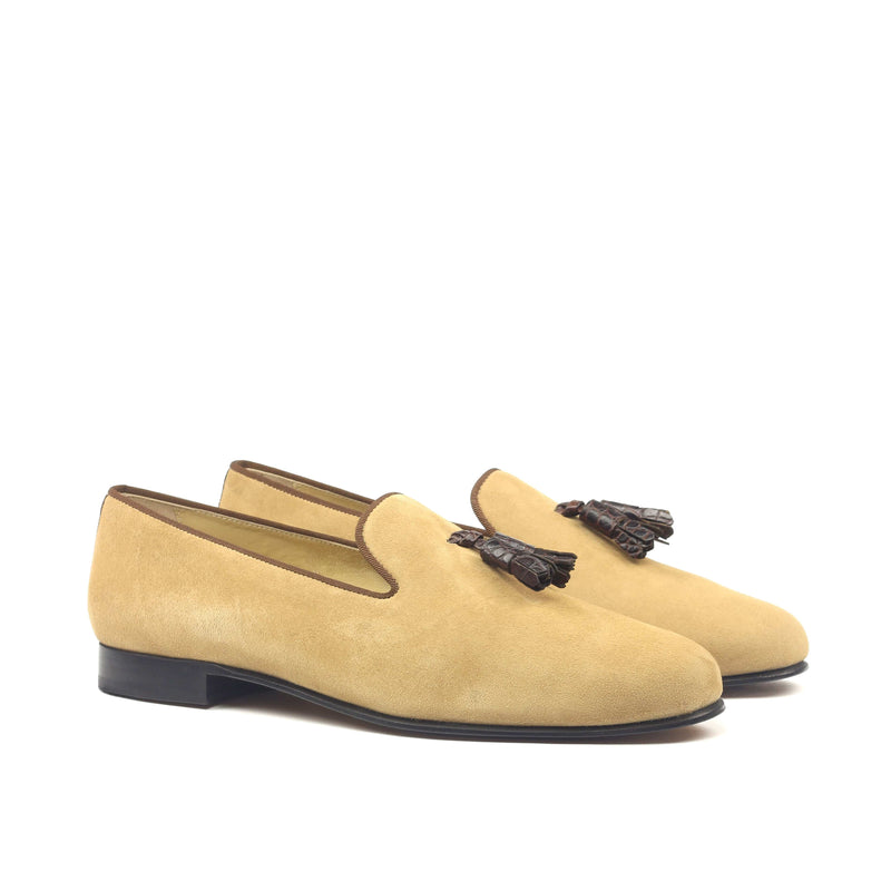 Slippers - Camel Suede-Albert Couture