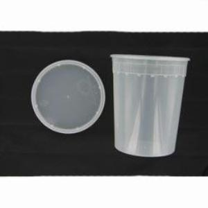 Plastic Storage Container with Resealable Lid