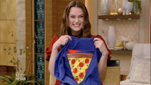 Load image into Gallery viewer, Keira Knightley excitedly receiving the Pizza Pocket Hoodie on ABC Show Kelly and Ryan