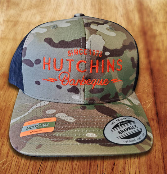 Red Dirt Camo Hat - Hutchins BBQ