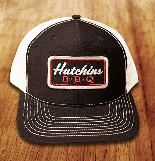 Black Patch Hat - Hutchins BBQ