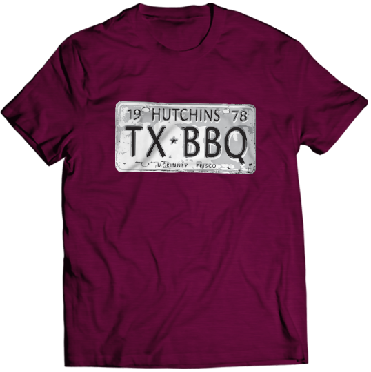 License Plate Tee - Hutchins BBQ