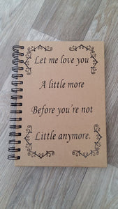 let me love you a little more notebook vinyl