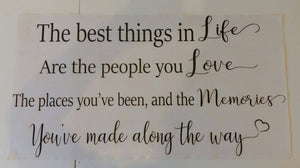 Best things in life quote