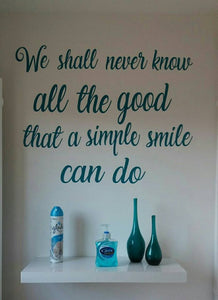 Simple smile quote
