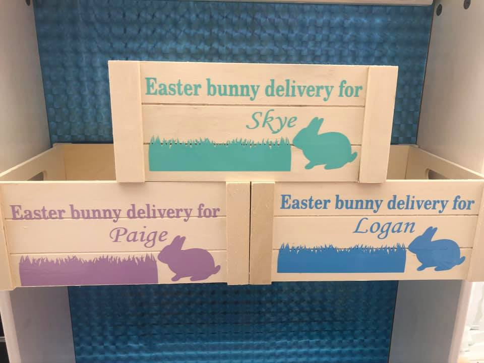 Easter bunny delivery create vinyl