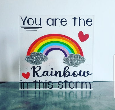 You are the rainbow plaque vinyl