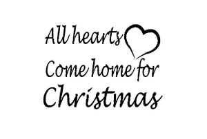 All hearts come home for Christmas vinyl