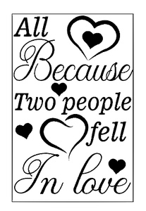Because two people fell in love quote lantern vinyl