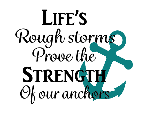 Life's storms quote plaque vinyl