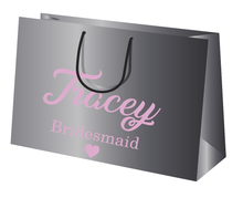 Load image into Gallery viewer, Bridal party personalised gift bag vinyl