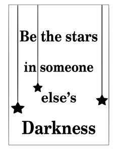 Be the stars notebook vinyl