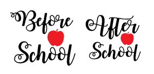 Before & After school vinyl decal set