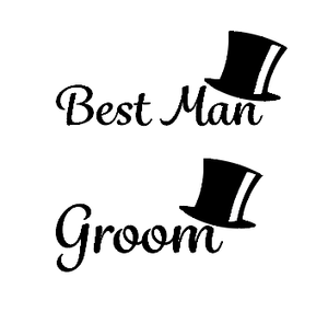 Grooms party glass/flask vinyl decals - can be personalised