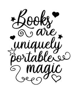 Books are magic quote vinyl
