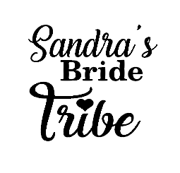 personalised Bride tribe wine/gin glass vinyl