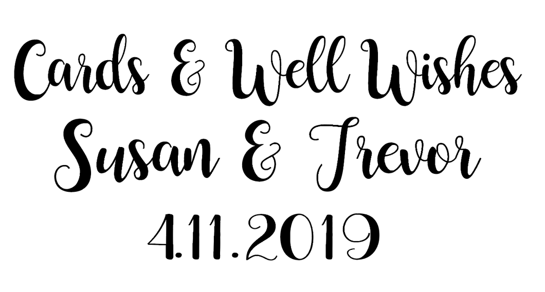 Cards & well wishes wedding vinyl