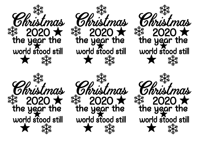 Christmas 2020 set of 6 bauble vinyl