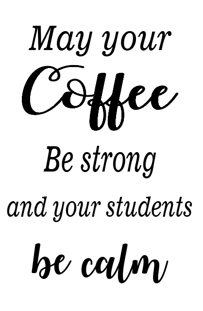 Coffee strong teacher notebook vinyl