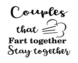 Couples quote plaque vinyl