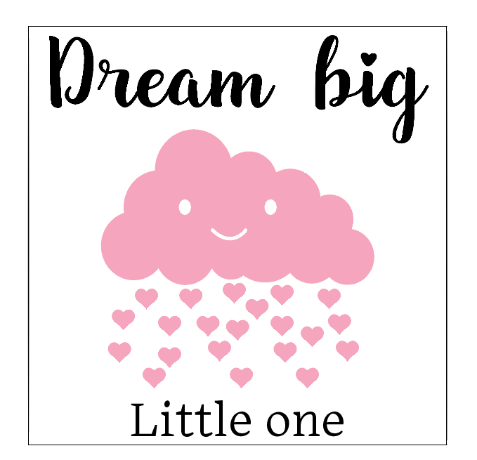 Dream big little one frame vinyl