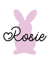 Load image into Gallery viewer, Personalised bunny silhouette and name mug vinyl