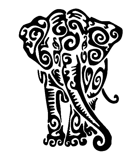 Mandala elephant design notebook vinyl