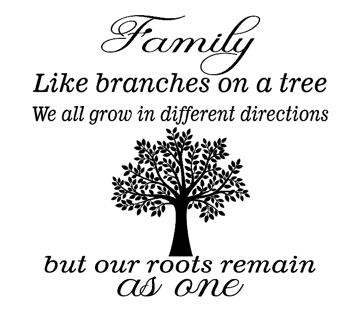 family tree quote vinyl