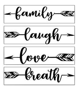 Family arrows quote plaque vinyl