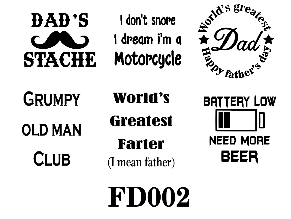 Father's day vinyl bundle - FD002