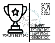 Load image into Gallery viewer, World's best dad postcard design father's day plaque quote