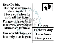 Load image into Gallery viewer, Dear Daddy postcard design father's day plaque quote