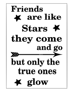 Friends are like stars notebook vinyl