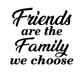 Friends family quote mug vinyl
